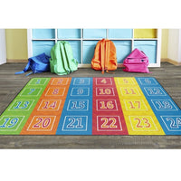 Number Chevrons Primary Rug