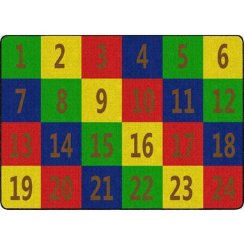 Number Seating Rug
