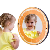 Orange Theme Wall Mirror