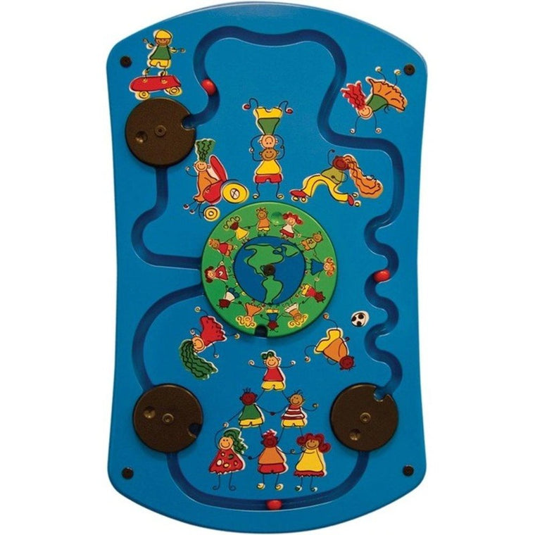 Play Around the World Wall Activity Toy