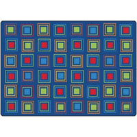 Primary Squares Seating Rug