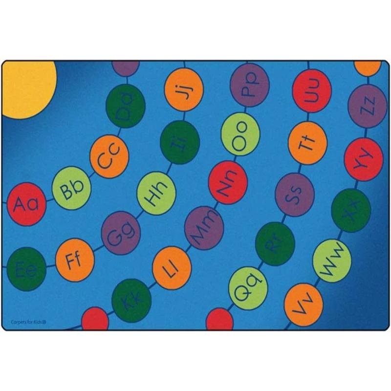Radiating Alphabet Seating Circles Rug