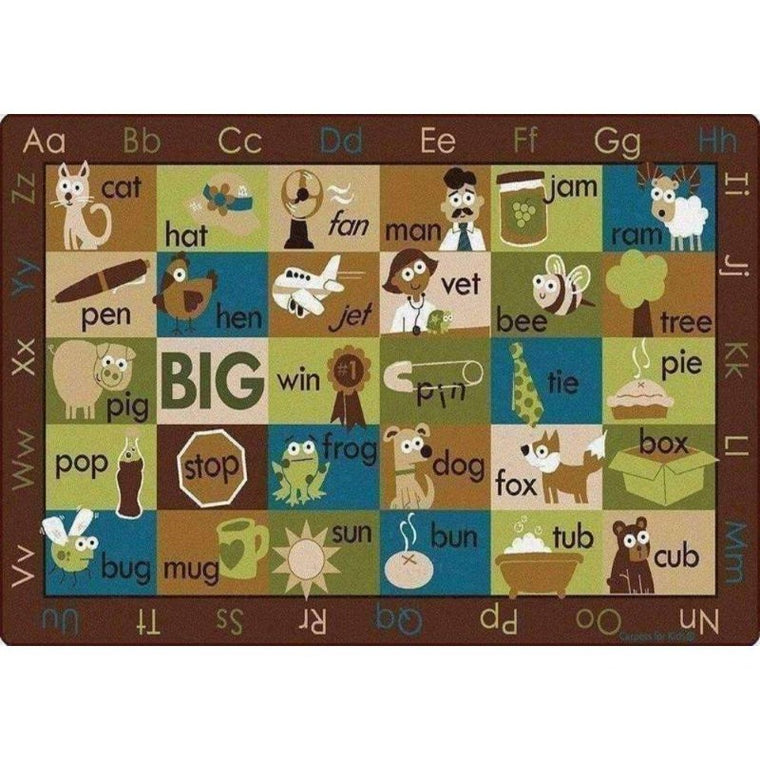 Rhyme Time Seating Rug Nature Colors