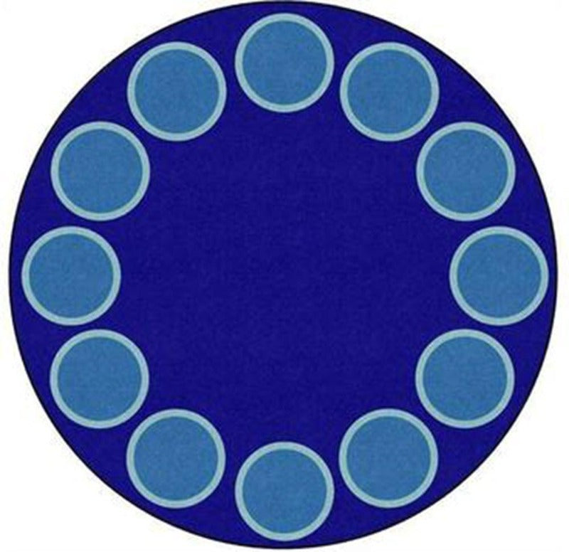 Serene Circles Be Bold Blue 6' Round Rug
