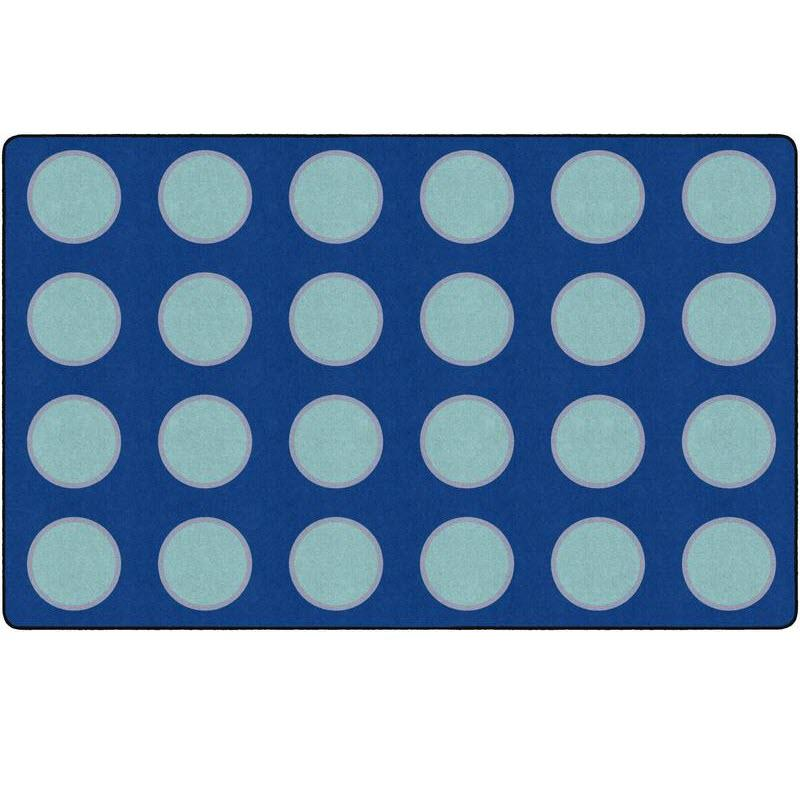 Serene Circles Blue Topaz Seating Rug