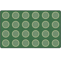 Serene Circles Sage Seating Rug