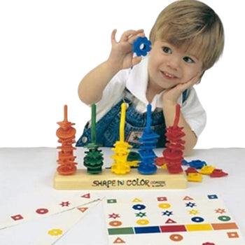 shape and color coaster toy