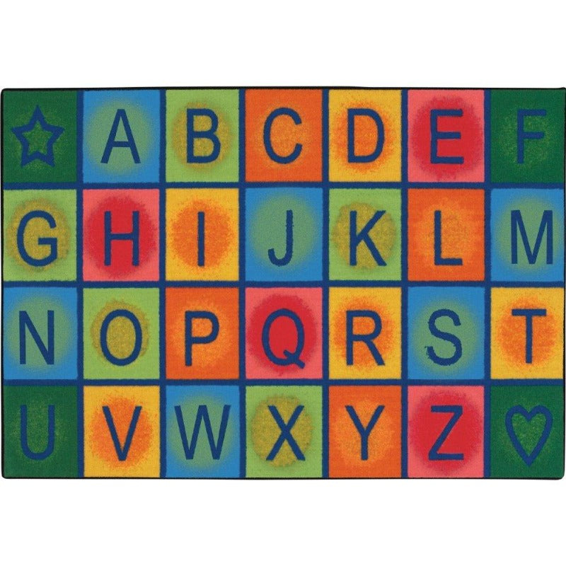 Simple Value Line Alphabet Blocks Rug