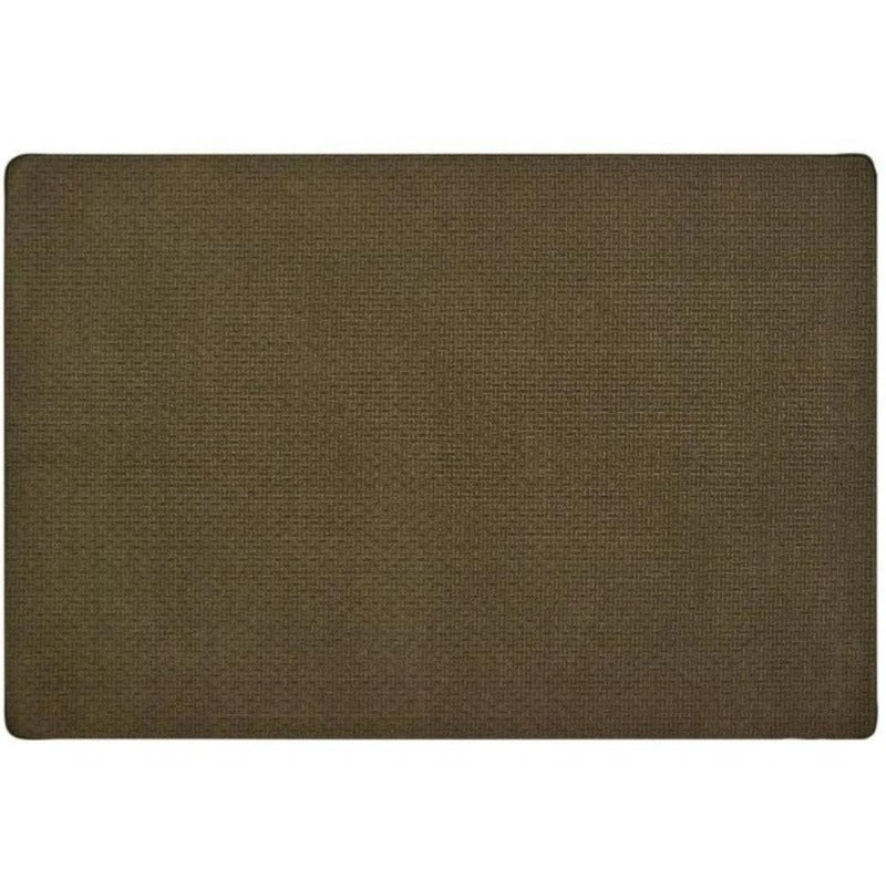Soft-Touch Texture Block Dark Brown Rug