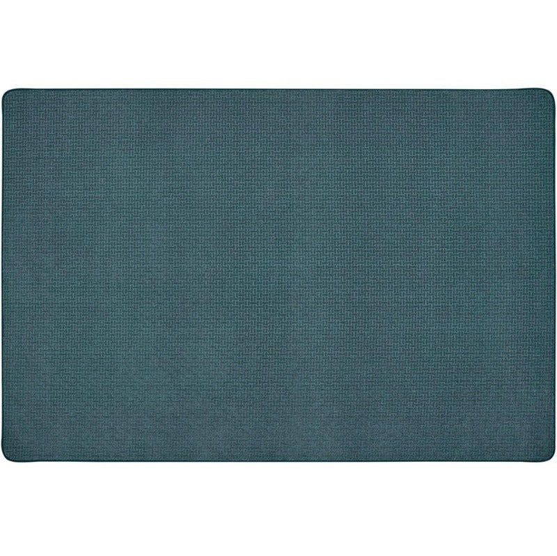 Soft-Touch Texture Block Slate Blue Rug