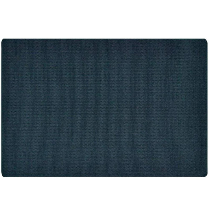 Soft-Touch Texture Block Navy Blue Rug
