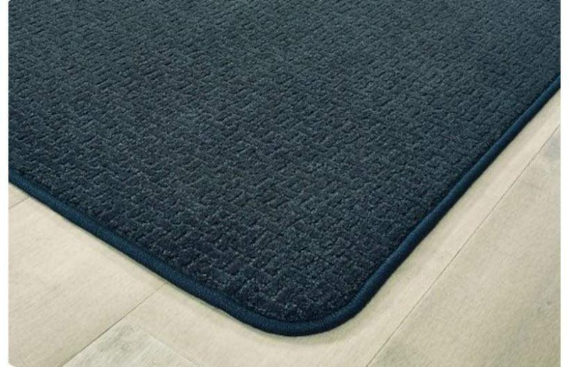Soft-Touch Texture Block Rug - Navy Blue