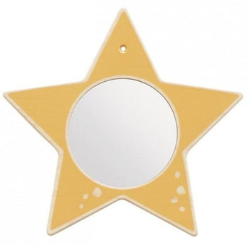 Star Wood Frame Wall Mirror - HABA 155632