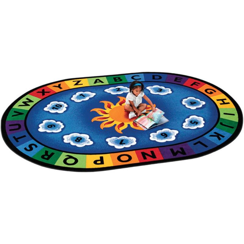 Sunny Day Learn and Play Oval Rug Factory Second