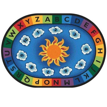 Sunny Day Learn and Play Factory Second Oval Rug