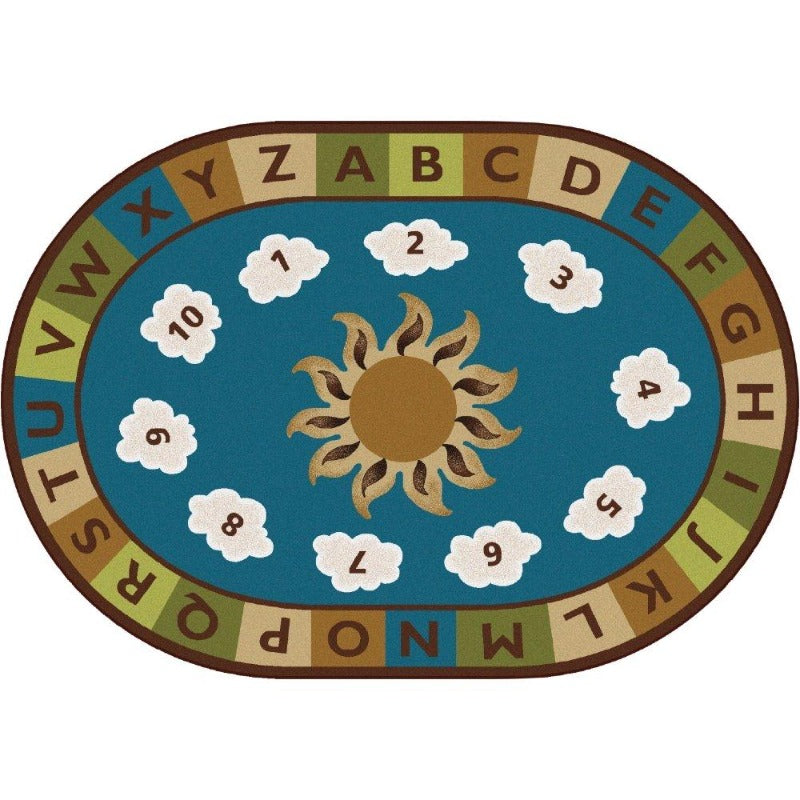 Sunny Day Learn & Play Nature's Colors Oval Rug