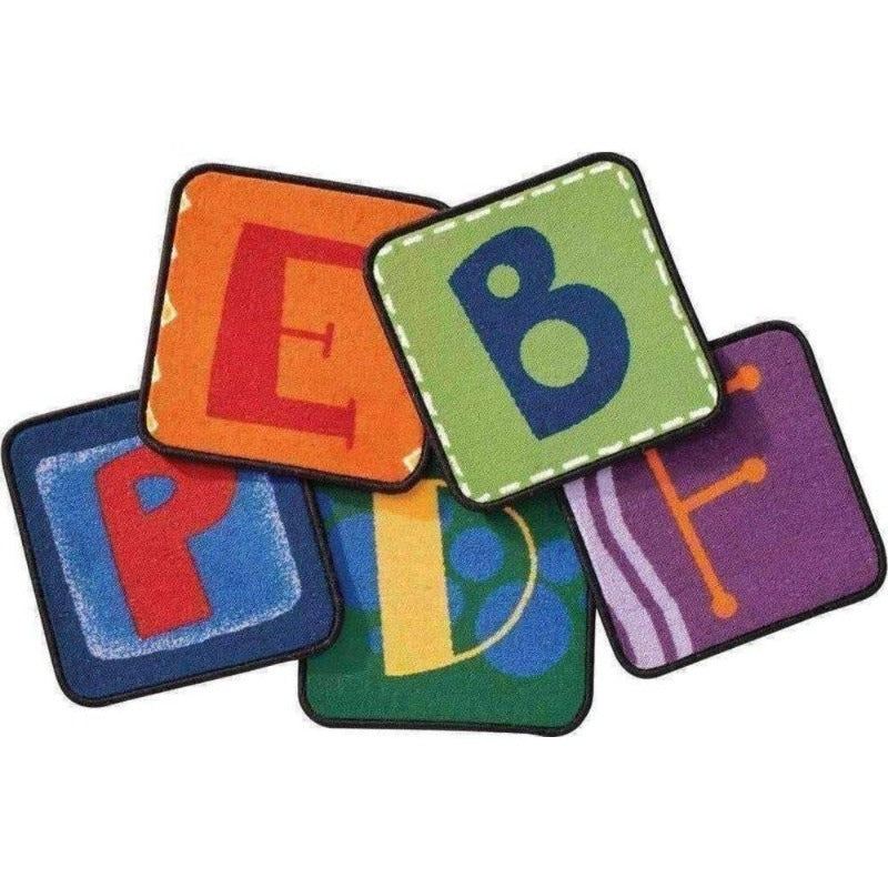 Toddler Alphabet Blocks Carpet Squares - Set of 26