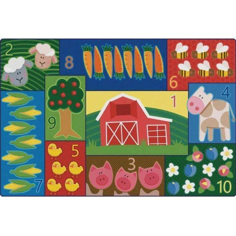 Toddler Farm Counting Factory Second Rug