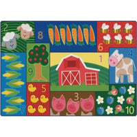 Toddler Farm Counting Rug