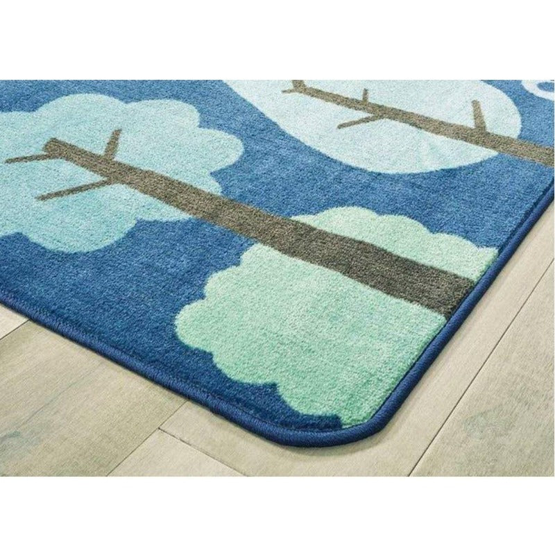 Tranquil Trees Blue Factory Second Rug 6' x 9'
