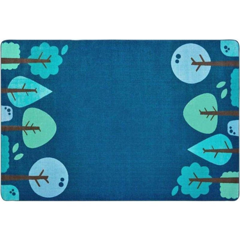 Tranquil Trees Blue Factory Second Rug