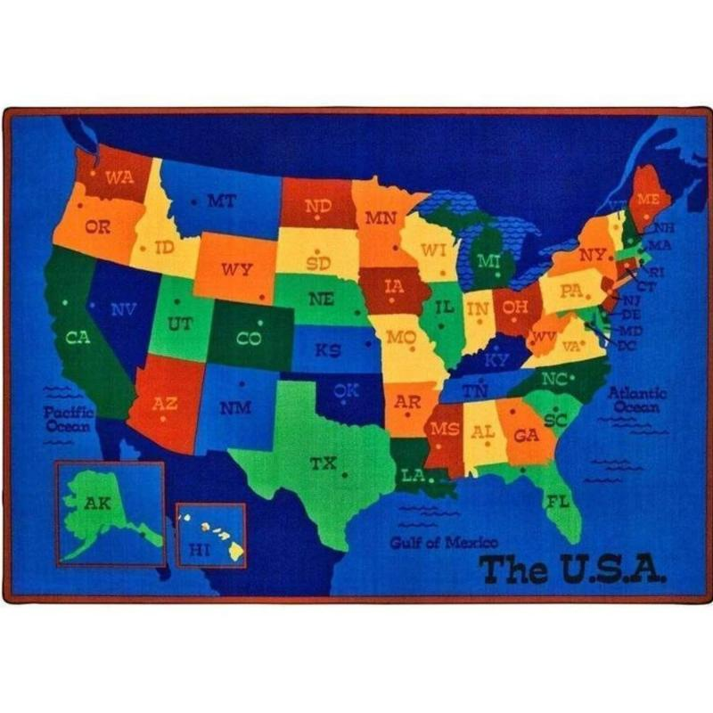 USA Map Value Plus Factory Second Rug