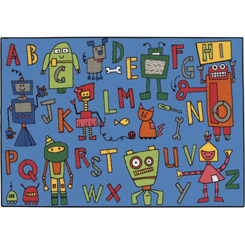 Value Line Reading Robots Rug