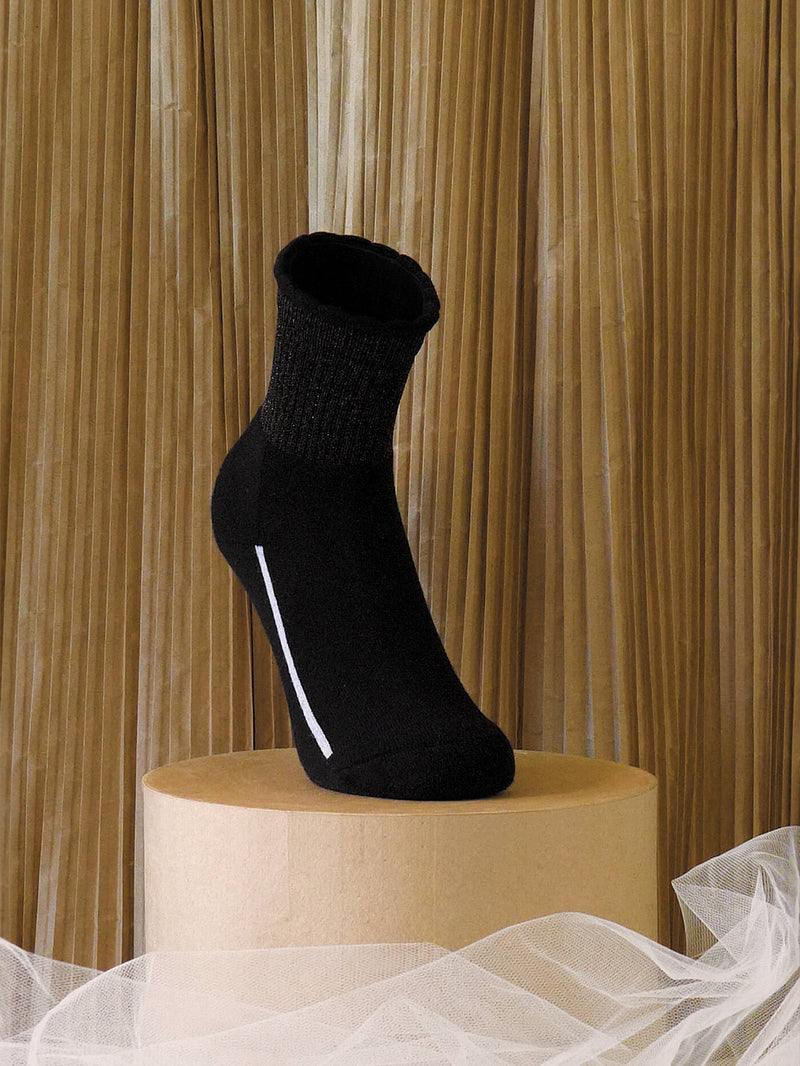 COTTON LUREX SOCKS | BLACK