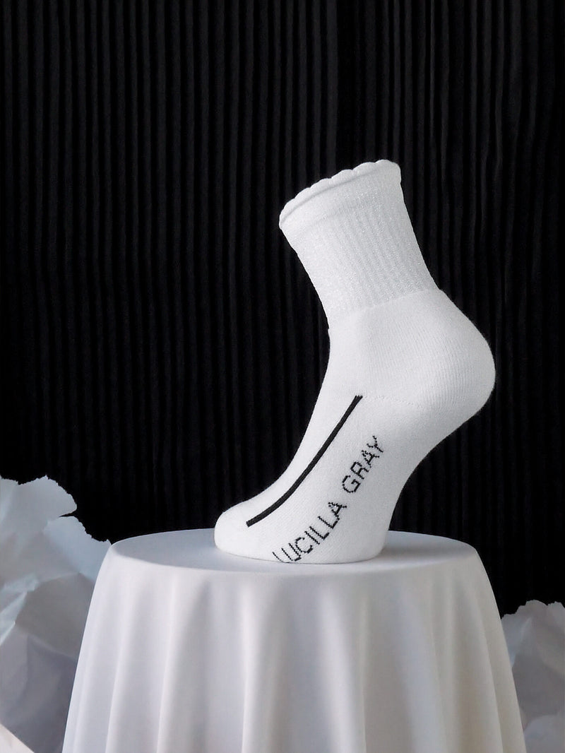 COTTON LUREX SOCKS | WHITE