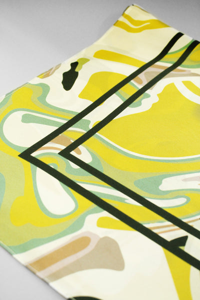 CLARANDA SILK SCARF Yellow