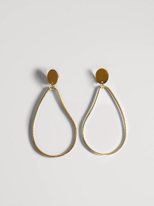 POMONA HOOP LARGE | GOLD