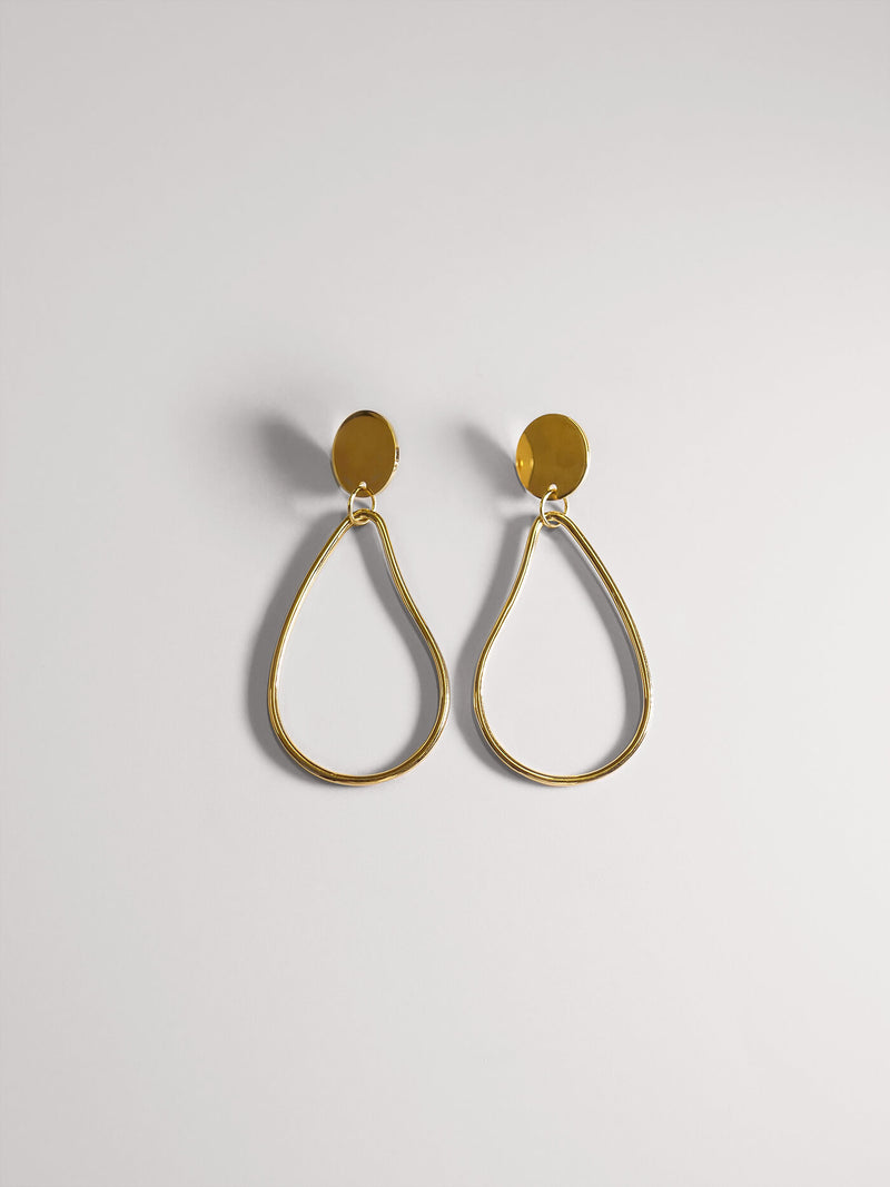 POMONA HOOP SMALL | GOLD