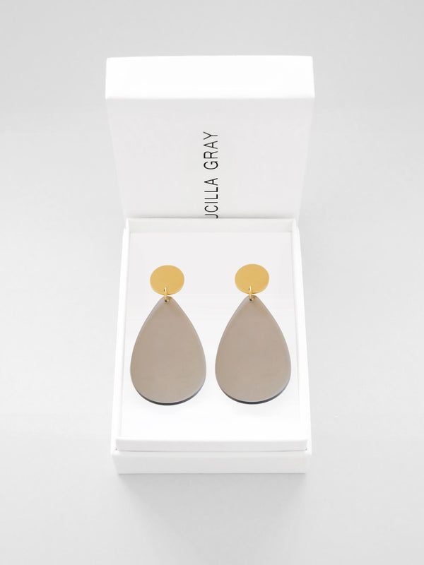 AURORA EARRINGS LARGE | LIGHT BRONZE TINT