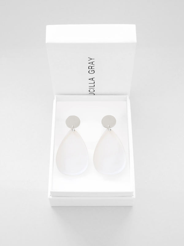 AURORA EARRINGS LARGE | CLEAR
