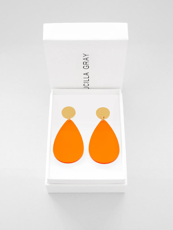 AURORA EARRINGS LARGE | ORANGE TINT