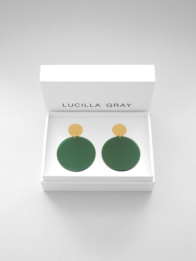 SOLANA EARRINGS LARGE | GREEN TINT