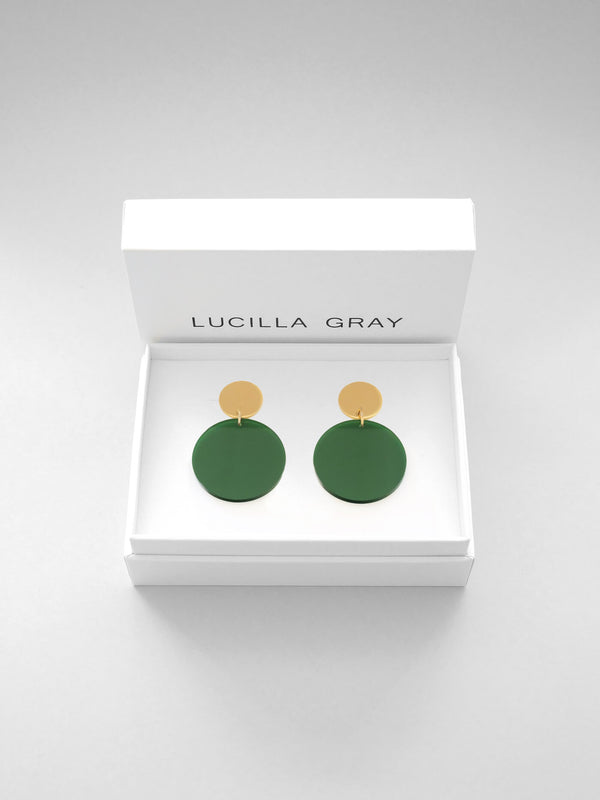 SOLANA EARRINGS SMALL | GREEN TINT
