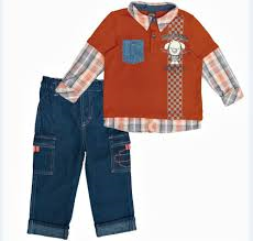 2072510-4T H-D® Toddler Boy's 2 Piece Denim Pant Set