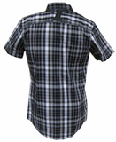 99055-11VM Harley-Davidson® Men's LIMITED EDITION Black Label Short Sleeve #1 Plaid Shirt