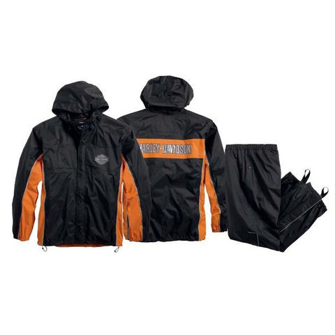 98285-14VM H-D® Mens Generations Reflective Waterproof Black Rain Suit