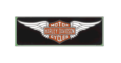 AR-10601151 - Harley-Davidson® Porcelain Sign - HD Wings