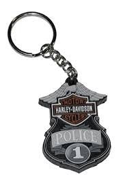 KY126375  H-D® Police B&S Rubber Key Holder