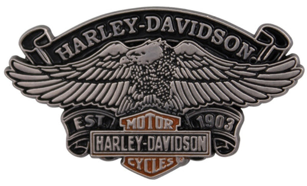 P1170064 - Harley-Davidson Eagle Relic Antique Nickel 3D Pin
