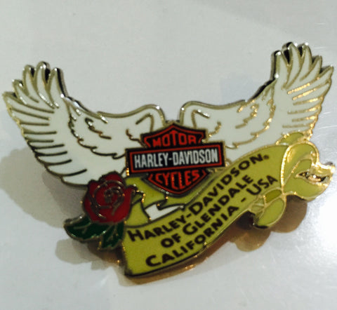 105099-4 Glendale Wings & Rose Pin