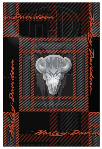 199224 H-D® Flannel Skull Pin & Card Set