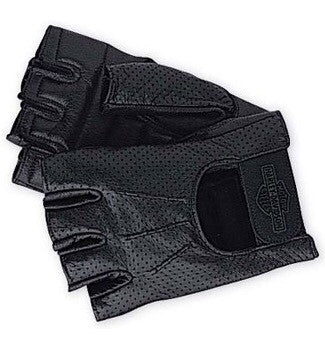 98182-99VM Harley-Davidson® Mens Perforated Fingerless Leather Gloves