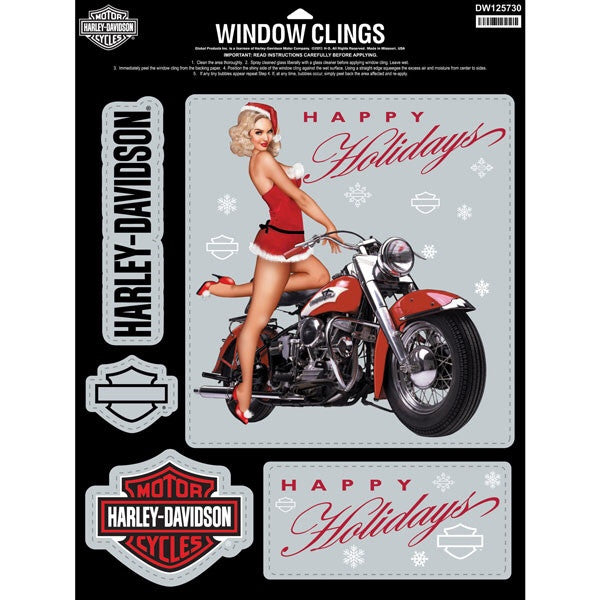 Harley-Davidson® Sweetheart Window Cling Sheet DW127530
