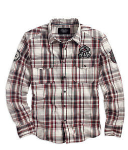 96406-14VM H-D® Men's LS Plaid Shirt