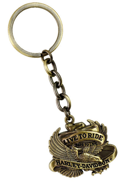 "HDKD35. HD 3D Eagle ""Live to Ride"" Keychain"