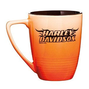 3OFM4909 Harley-Davidson® H-D Font with Flames Ombre Fade Orange Mug